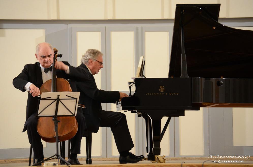 Concert with cellist Igor Gavrysh, Saratov Russia 2016