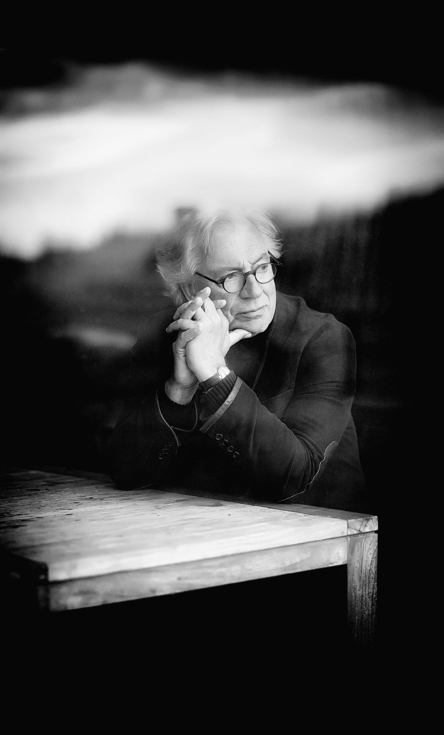 Looking at the North Sea , taken through the window of a restaurant by Hans van der Woerd, 2015.